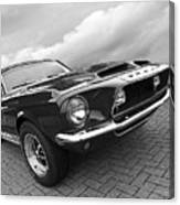 Shelby Gt500kr 1968 In Black And White Canvas Print