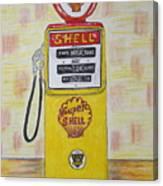 Shell Gas Pump Canvas Print