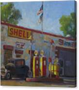 Shell Station Brown County Canvas Print