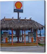 Shell Tiki Hut Station Canvas Print