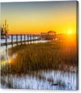 Shem Creek Sunset - Charleston Sc  Canvas Print