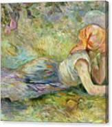 Shepherdess Resting Canvas Print