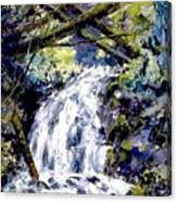 Shepherds Dell Falls Coumbia Gorge Or Canvas Print