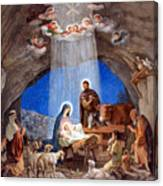 Shepherds Field Nativity Painting Canvas Print