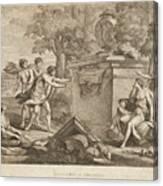 Shepherds In Arcadia Canvas Print