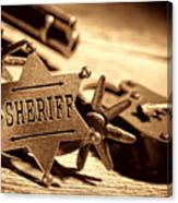 Sheriff Tools Canvas Print