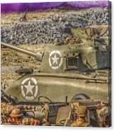 Sherman Attack Canvas Print