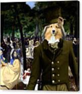 Shetland Sheepdog Art Canvas Print - Music In The Tuileries Gardens Canvas Print