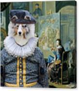 Shetland Sheepdog Art Canvas Print - The Painter And His Studio Canvas Print