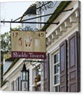 Shields Tavern Sign Canvas Print