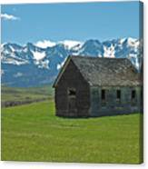 Shields Valley Abandoned Farm Ranch House Canvas Print