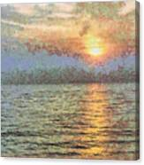 Shimmering Light Over The Water Canvas Print