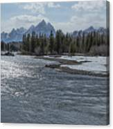 Shimmering Snake River And The Tetons Canvas Print