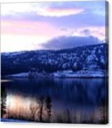 Shimmering Wood Lake Canvas Print