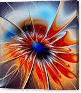 Shining Red Flower Canvas Print