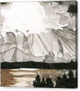 Shining Through The Storm Canvas Print