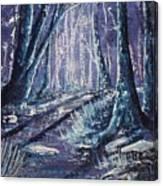 Shining Wood Canvas Print