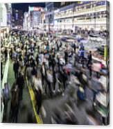 Shinjuku People Rush Canvas Print