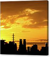 Shinjuku Sunrise Canvas Print
