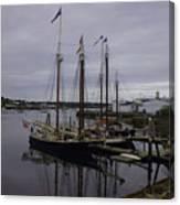 Ship At Dock. Canvas Print