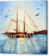 Ship At Mallory Square Canvas Print
