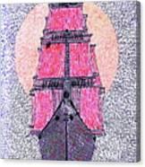 Ship In Sun Canvas Print