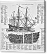 Ship Of War Plans Canvas Print