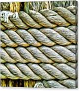 Ship Rope Anchored Canvas Print