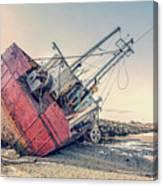 Shipwreck Provincetown Breakwater Canvas Print