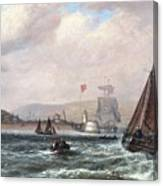 Shipping Off Newhaven Harbour Canvas Print