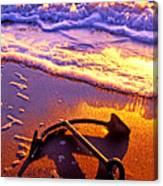 Ships Anchor On Beach Canvas Print