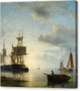 Ships At Dusk Canvas Print