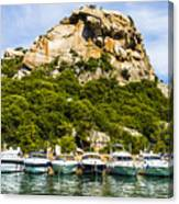 Ships Collection To Italian Harbor Canvas Print