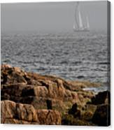 Ships Harbor In Maine Canvas Print
