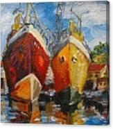 Ships In Repair Canvas Print