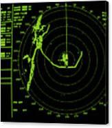 Ship's Radar Screen While In Port Canvas Print