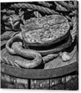 Ships Rope And Pully Canvas Print