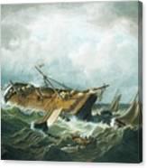 Shipwreck Off Nantucket Canvas Print