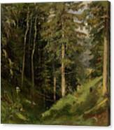 Shishkin, Ivan 1832-1898 Forest Clearing Canvas Print