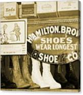 Shoe Shopping In The 30's Canvas Print