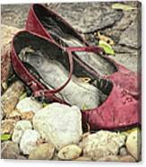 Shoes At The Makeshift Memorial Canvas Print