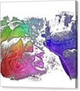 Shoot For The Sky Cool Rainbow 3 Dimensional Canvas Print