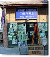 Shop Behind The Wall Canvas Print
