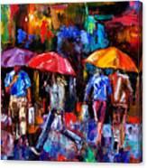 Shopping Bags Canvas Print