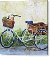 Shopping Day In Lucca Italy Canvas Print
