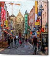 Shopping In Dublin Canvas Print