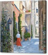 Shopping In Orvieto Canvas Print