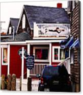 Shopping In Perkins Cove Maine Canvas Print