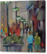 Shopping On The Mag Mile Canvas Print
