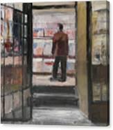 Shopping Solo Canvas Print